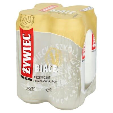 4x Piwo Żywiec Białe puszka 500ml